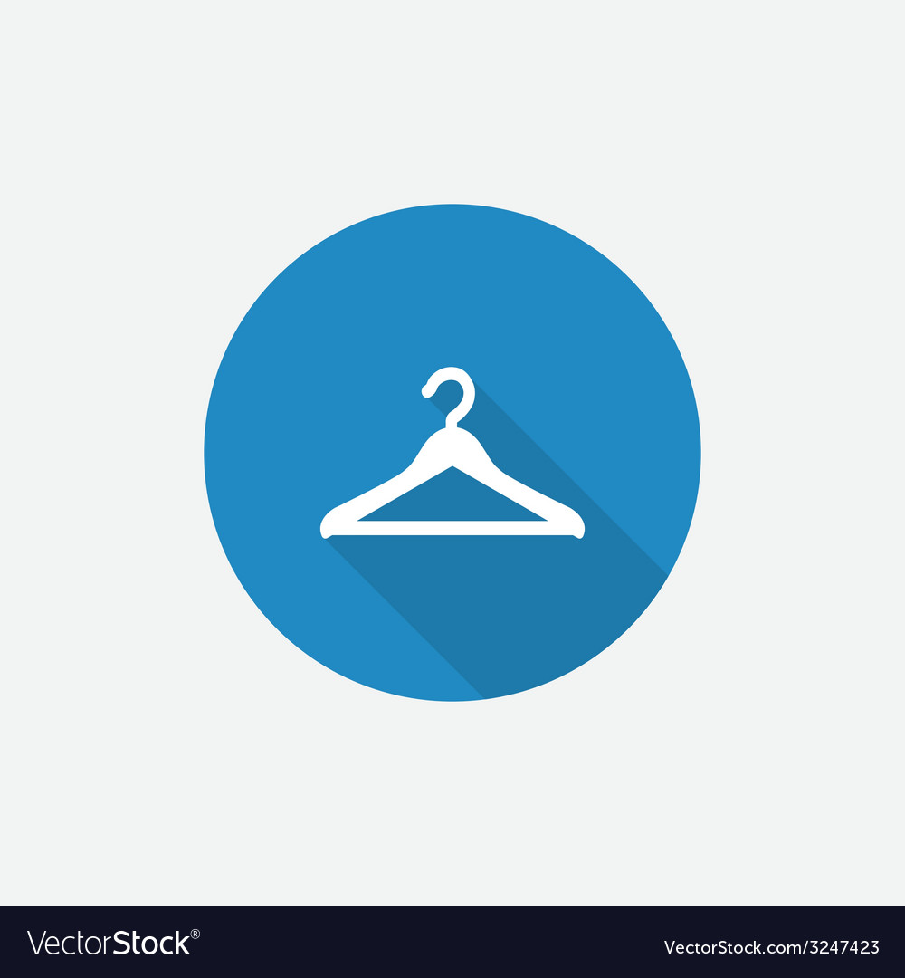 Hanger flat blue simple icon with long shadow vector