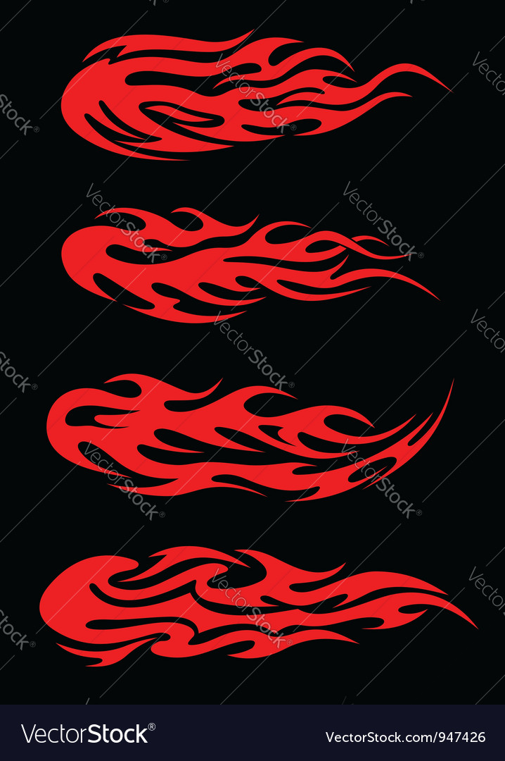 Burning tribal flames vector