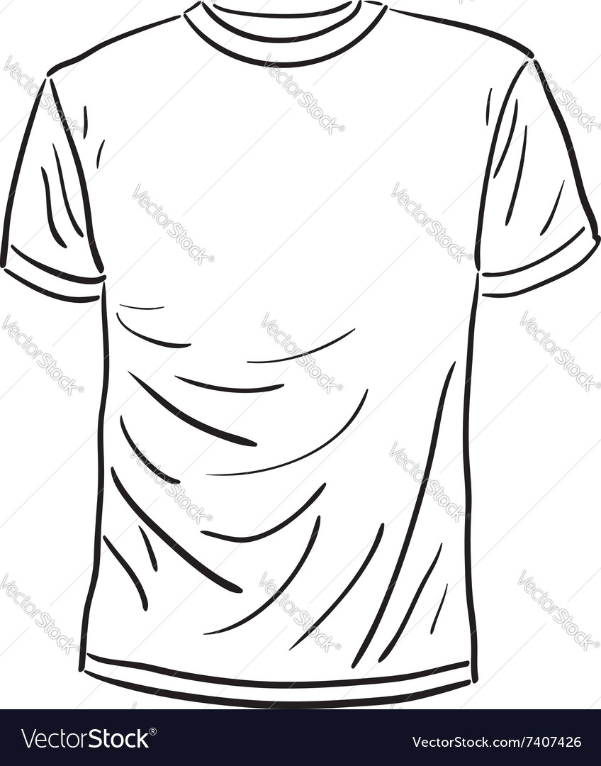 Men s tshirt sketch vector