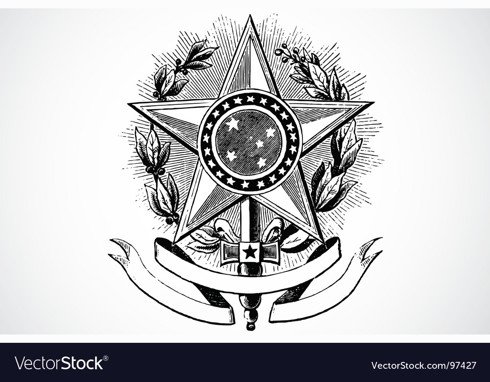 Star and banner ornament vector