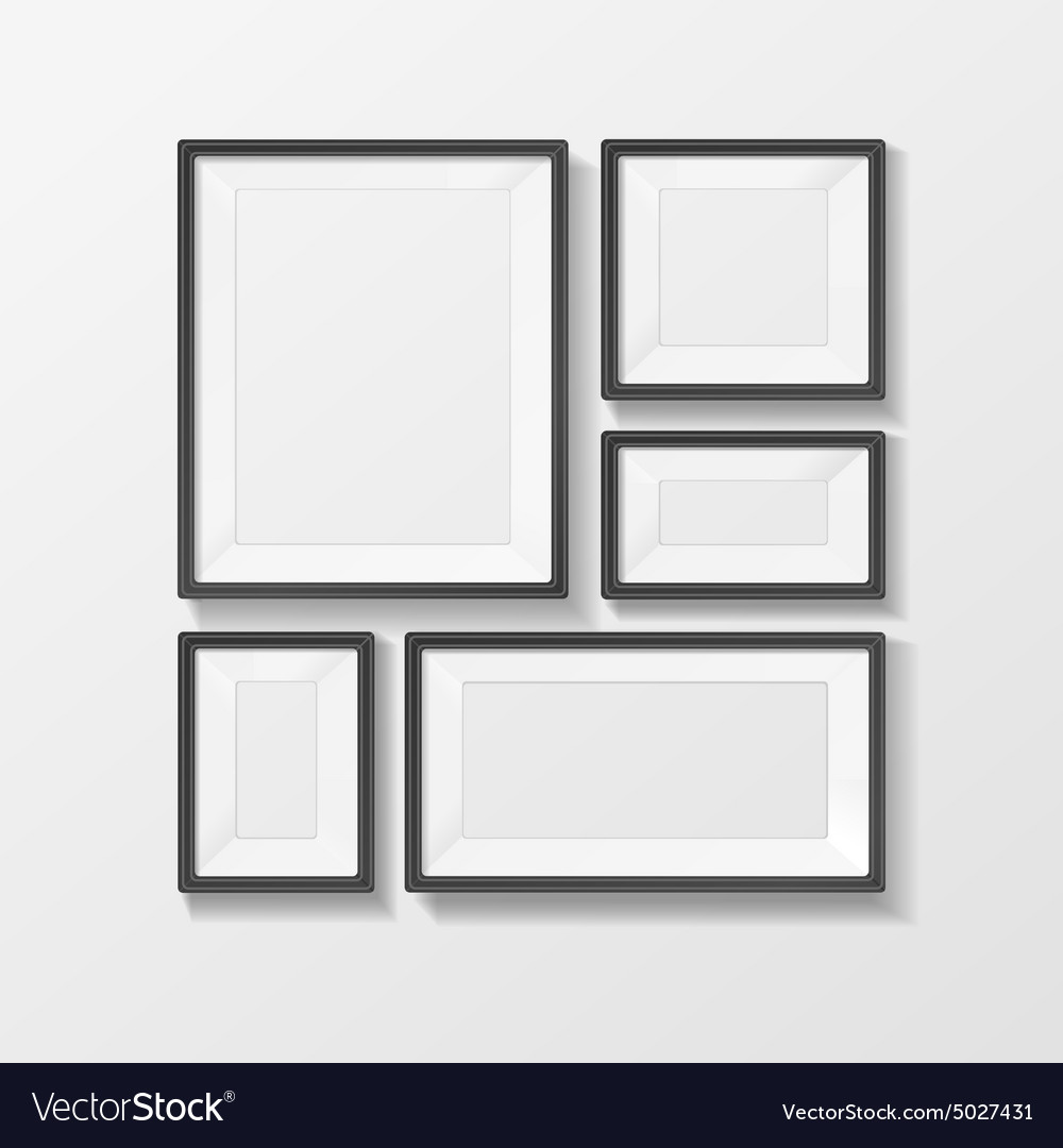 Picture frame set vector