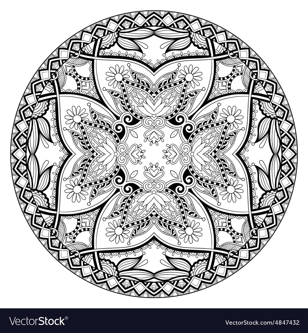 Coloring book page for adults  zendala joy to vector