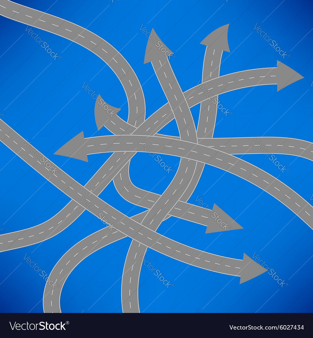 Roads icon on blue background vector