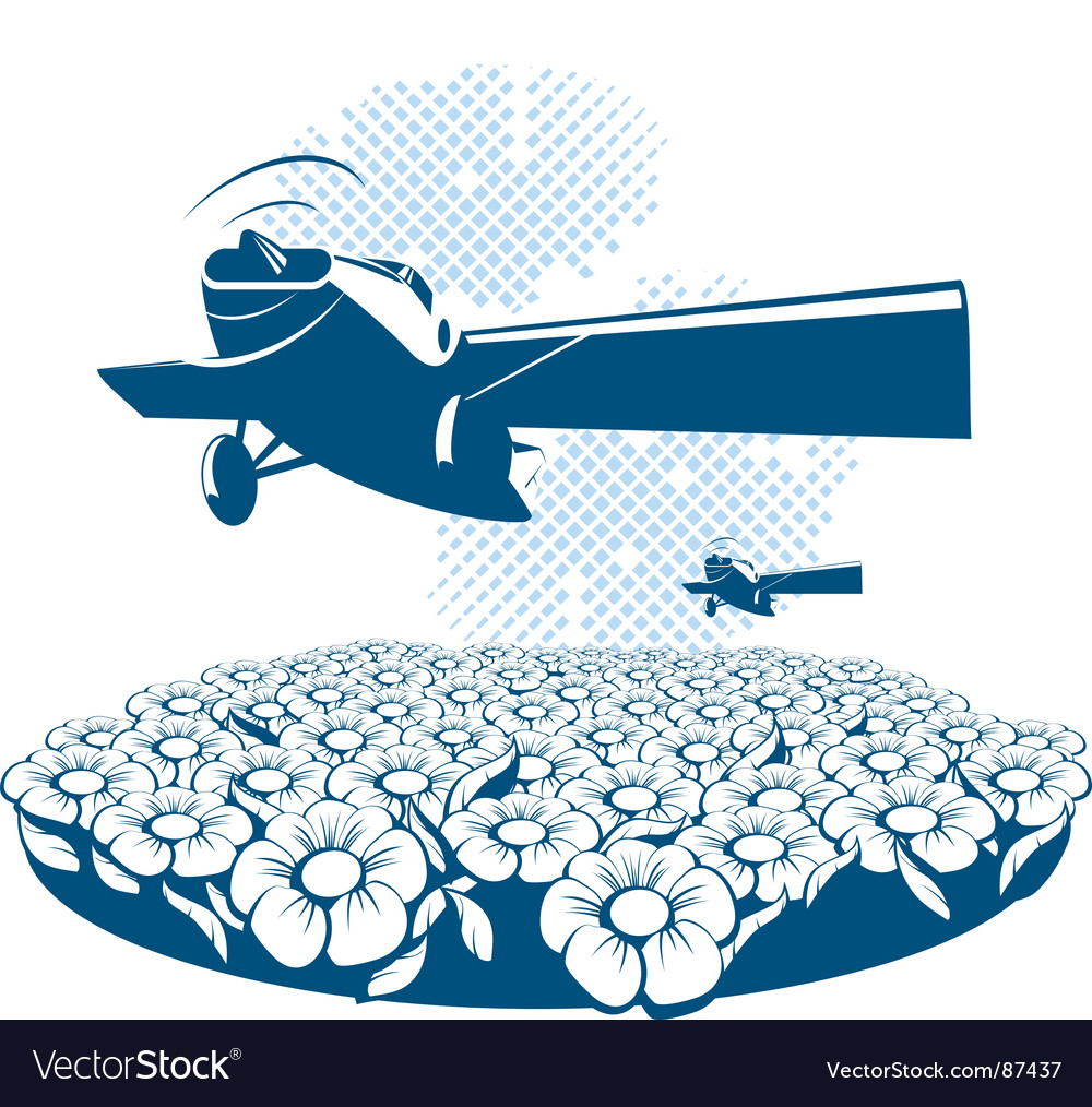 Poster airplane vector