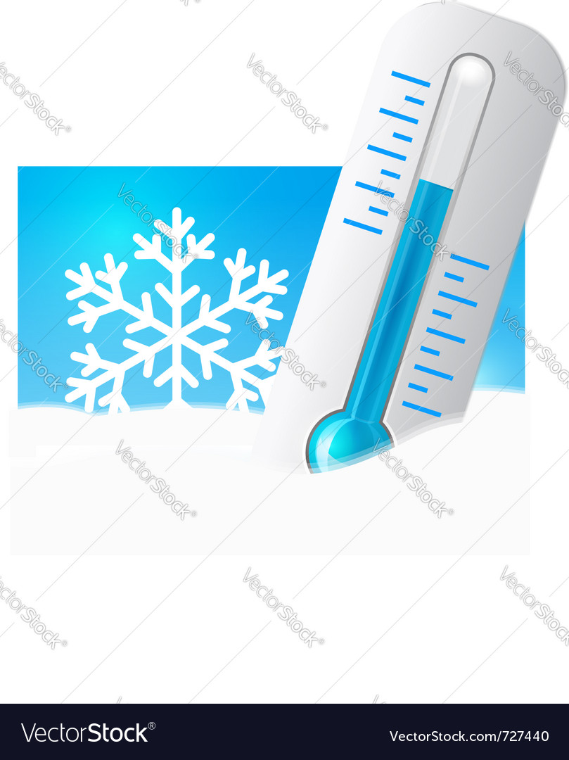 Mometer in the snow vector