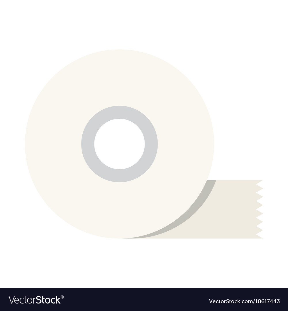 Adhesive tape flat icon vector
