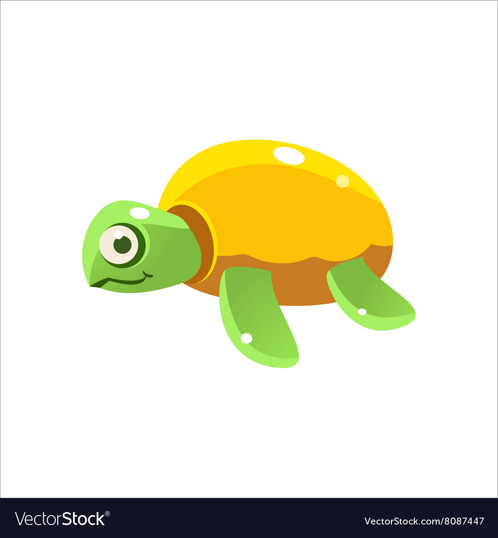 Green turtle icon vector