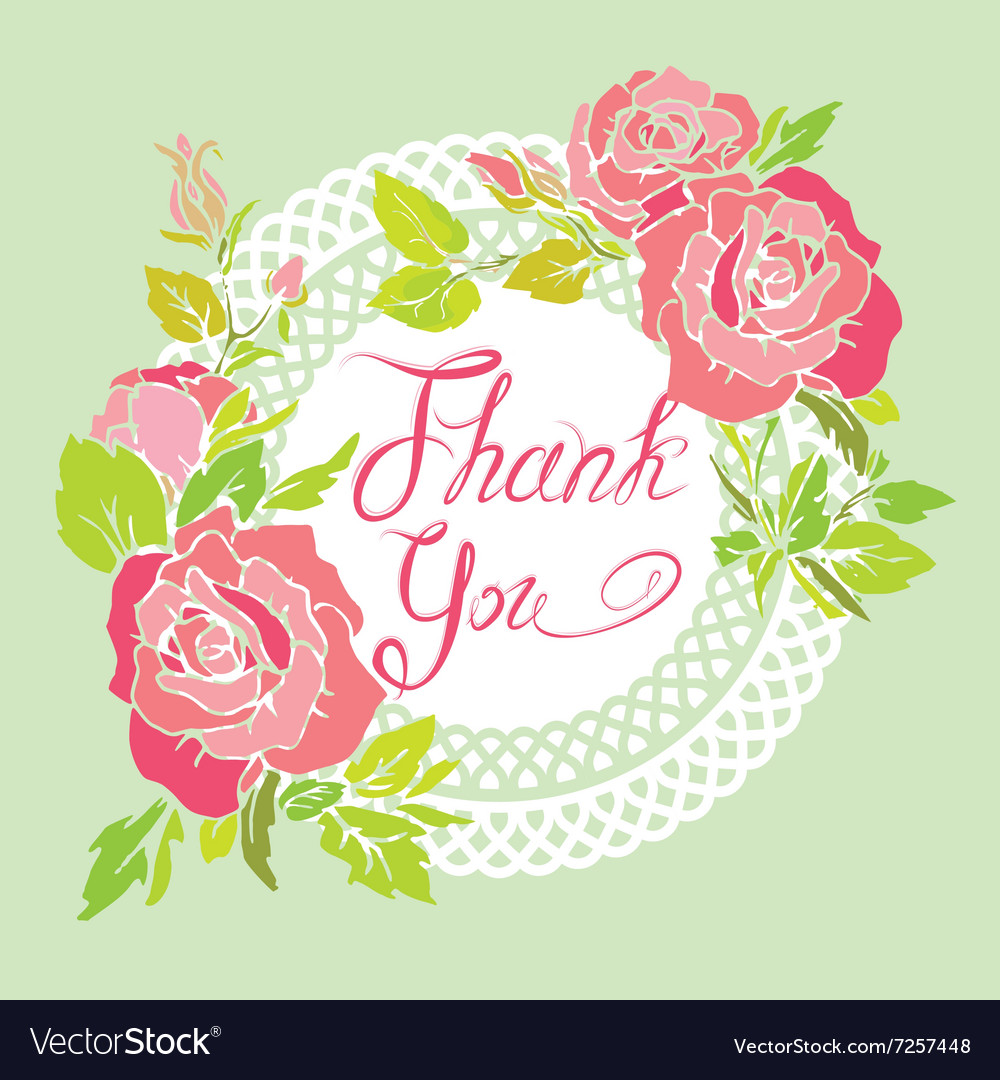 Thank you rose 380 vector