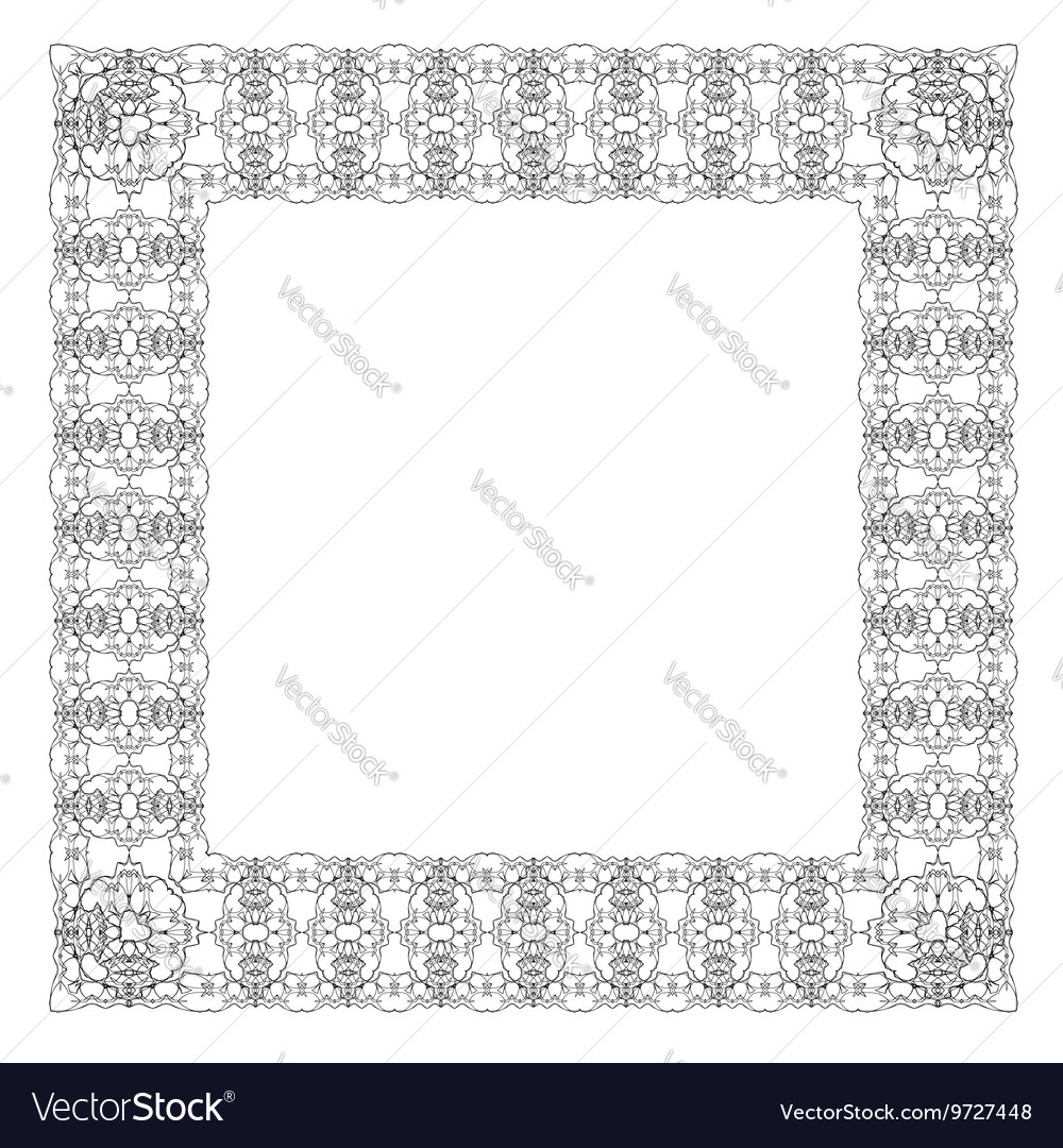 Vintage retro square frame vector