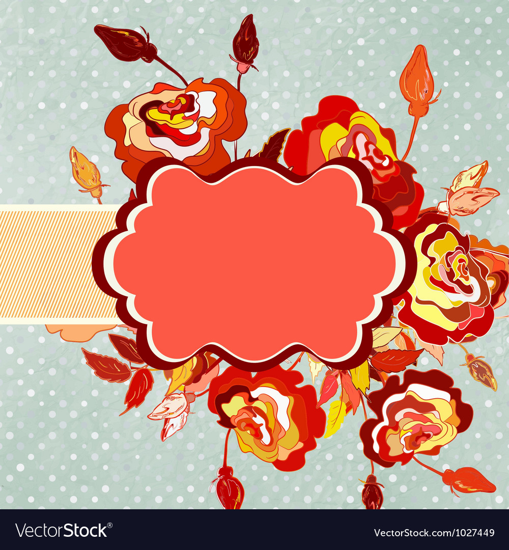 Flower with polka dot eps 8 vector