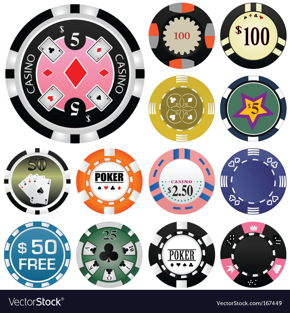 Gambling chips vector