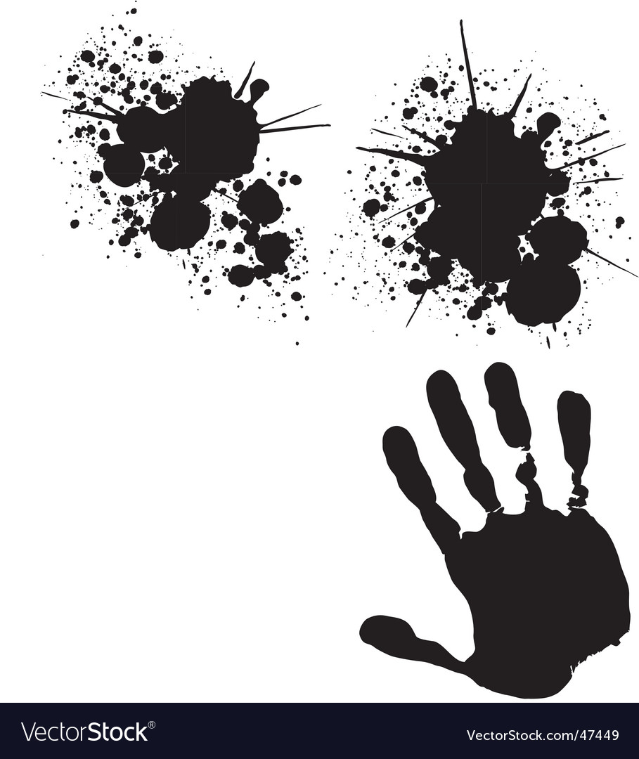 Splats and hand vector