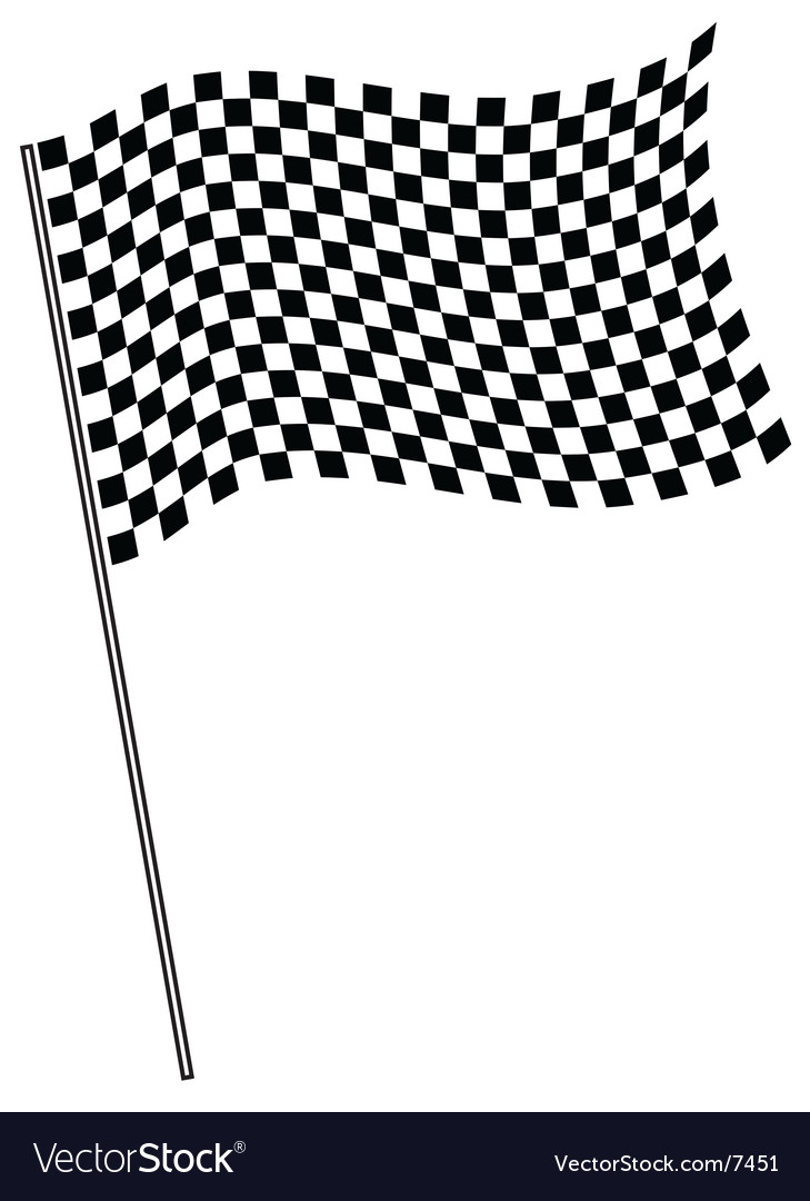 Finish flag vector