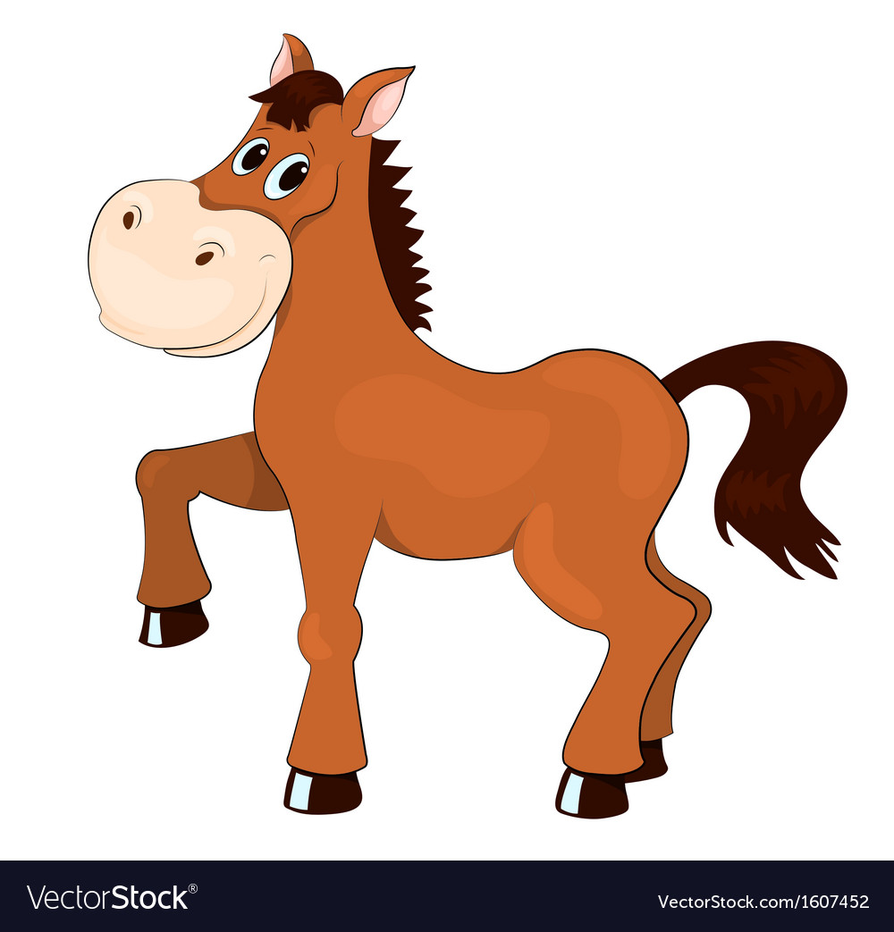 Brown horse vector