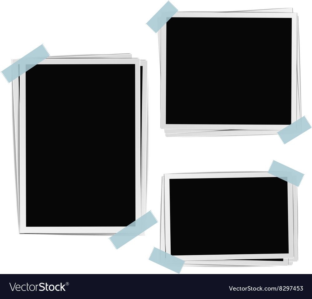 Photo frames composition vector