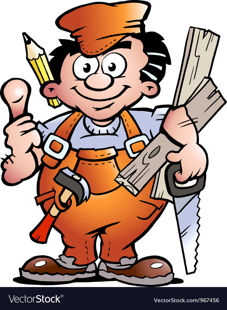 An carpenter handyman vector