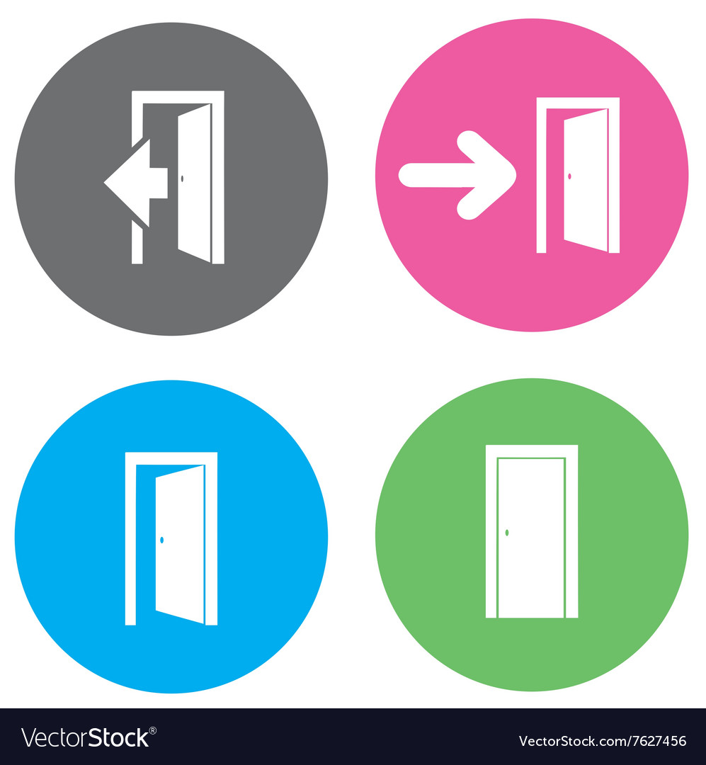 Door open flat vector