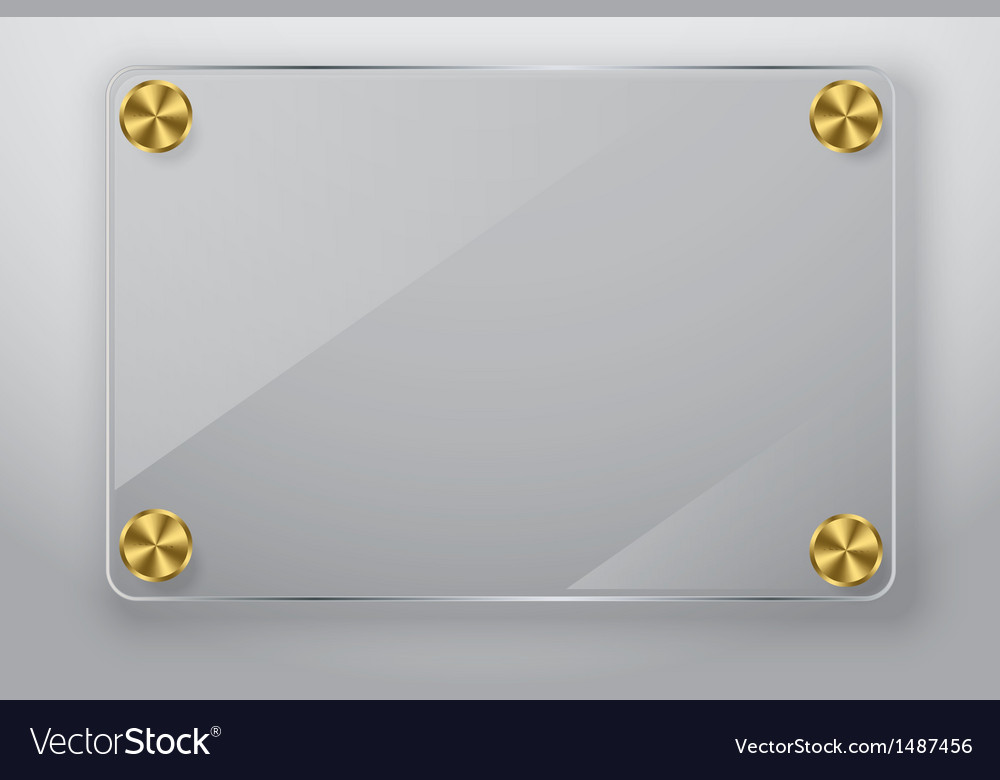 Glass frame with screws vector