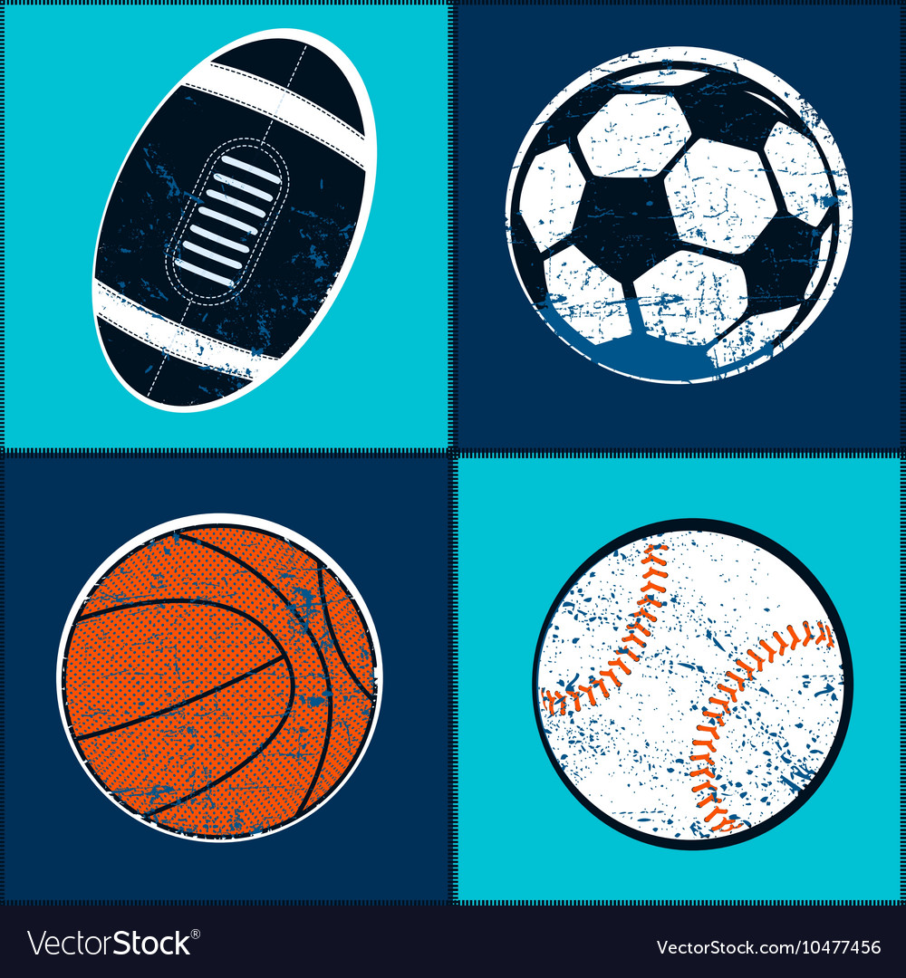 Sports balls children seamless pattern vector
