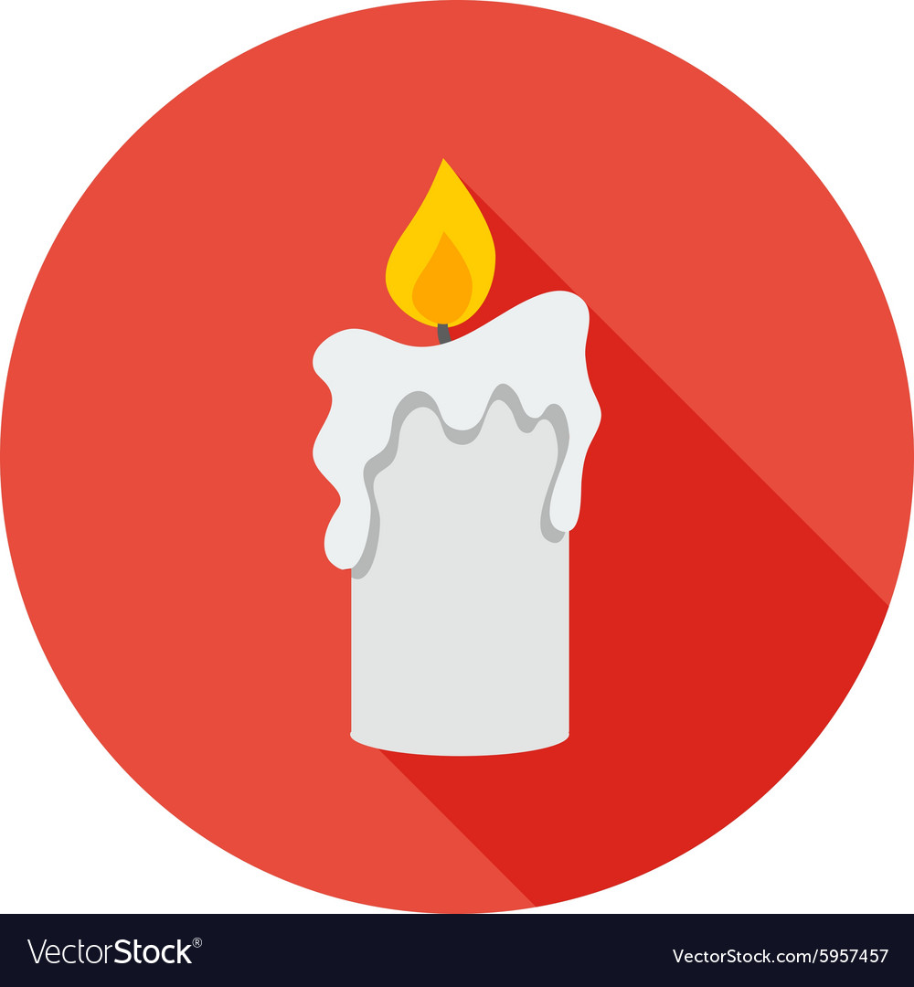 Religious big candle vector