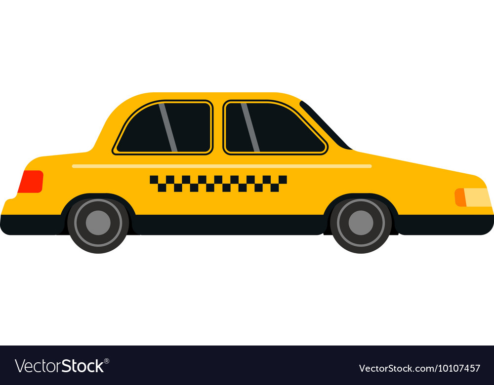 Taxi yellow car style vector