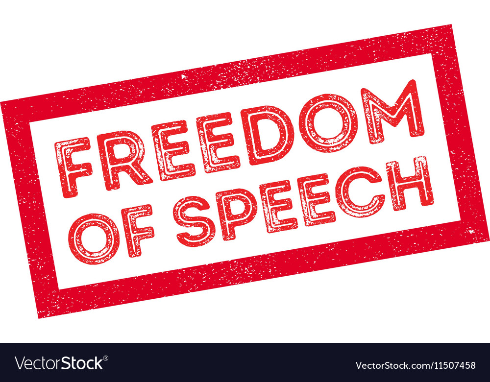 Freedom of speech rubber stamp vector