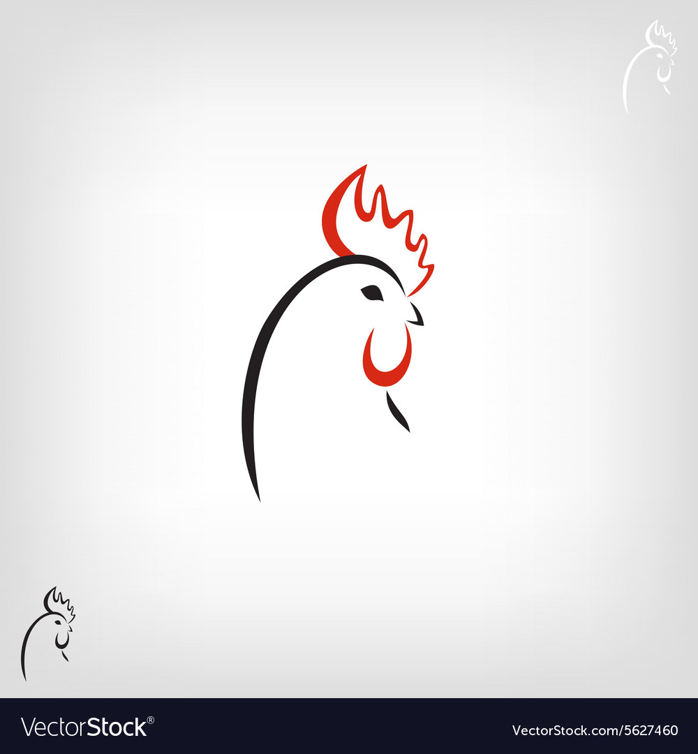 Black stylized cocks on a white background vector