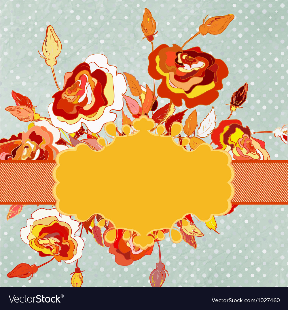 Polkadot flowers and copyspace eps 8 vector