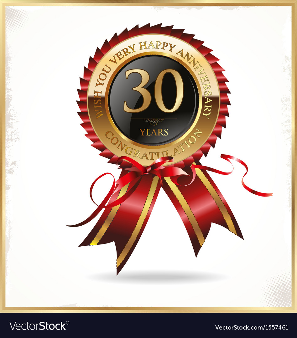 30 years anniversary label vector
