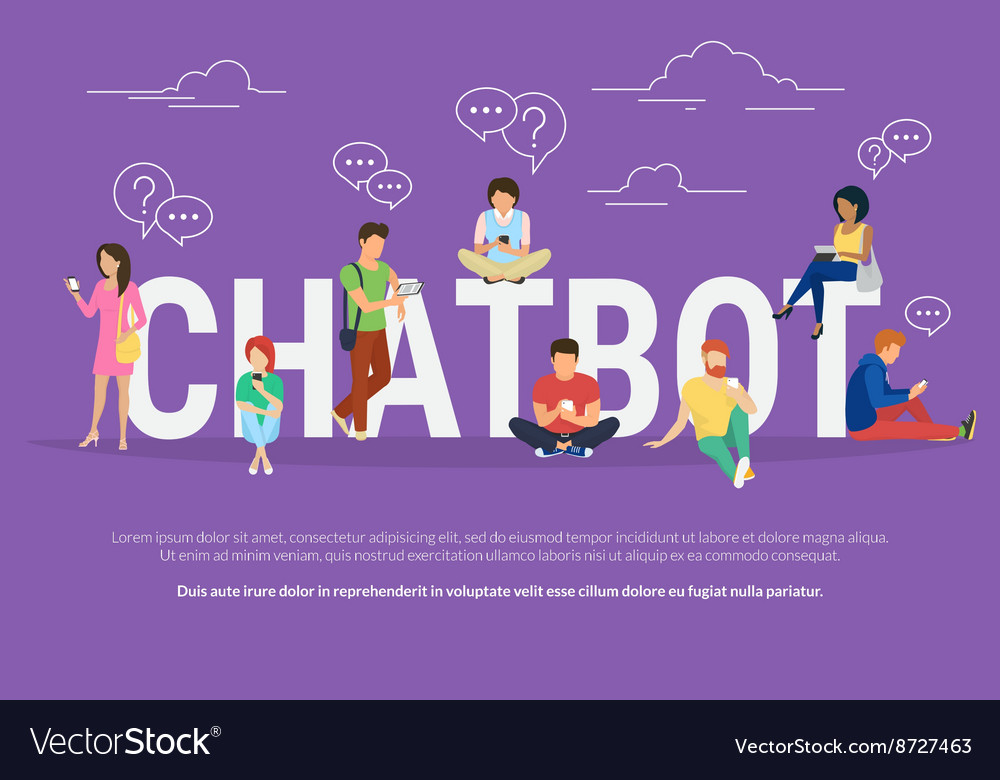 Chatbot concept vector