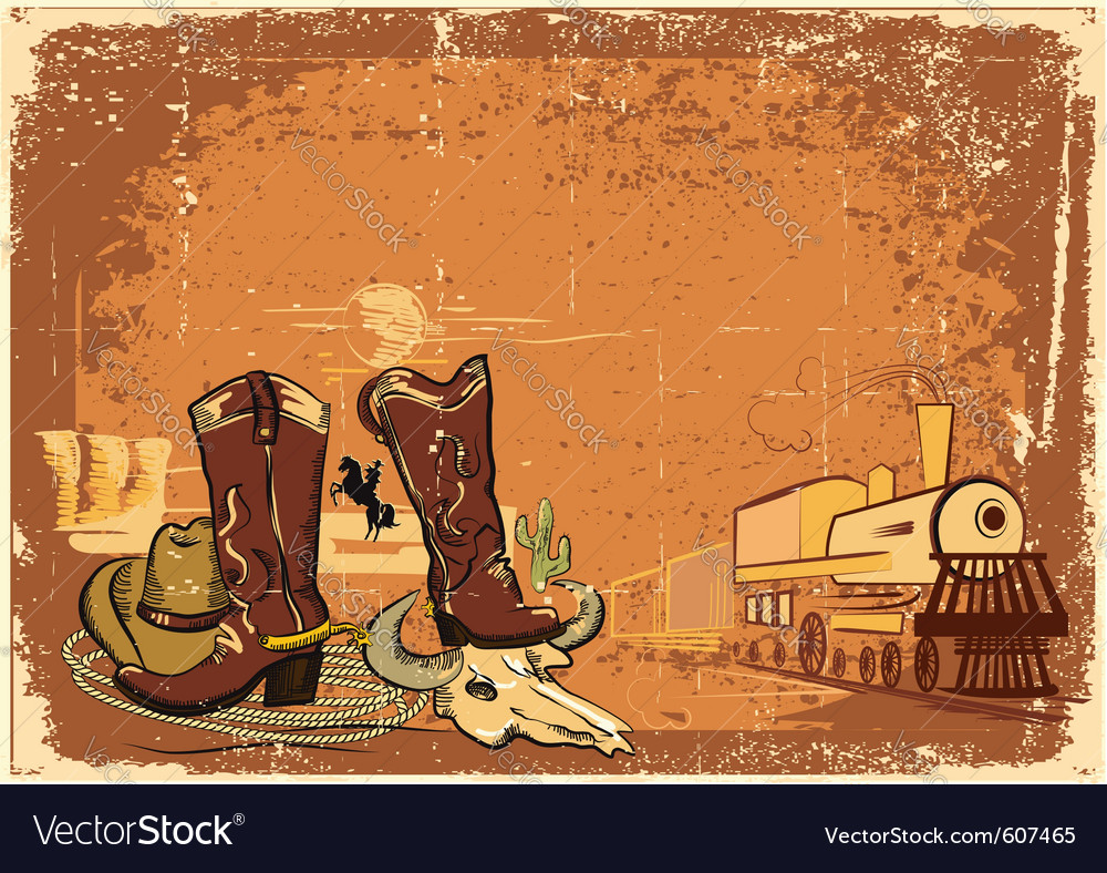 Wild western background vector