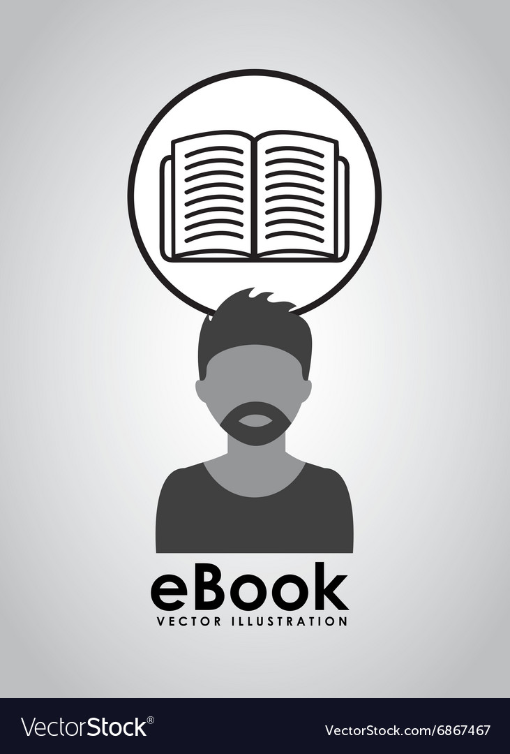Ebook concept design vector