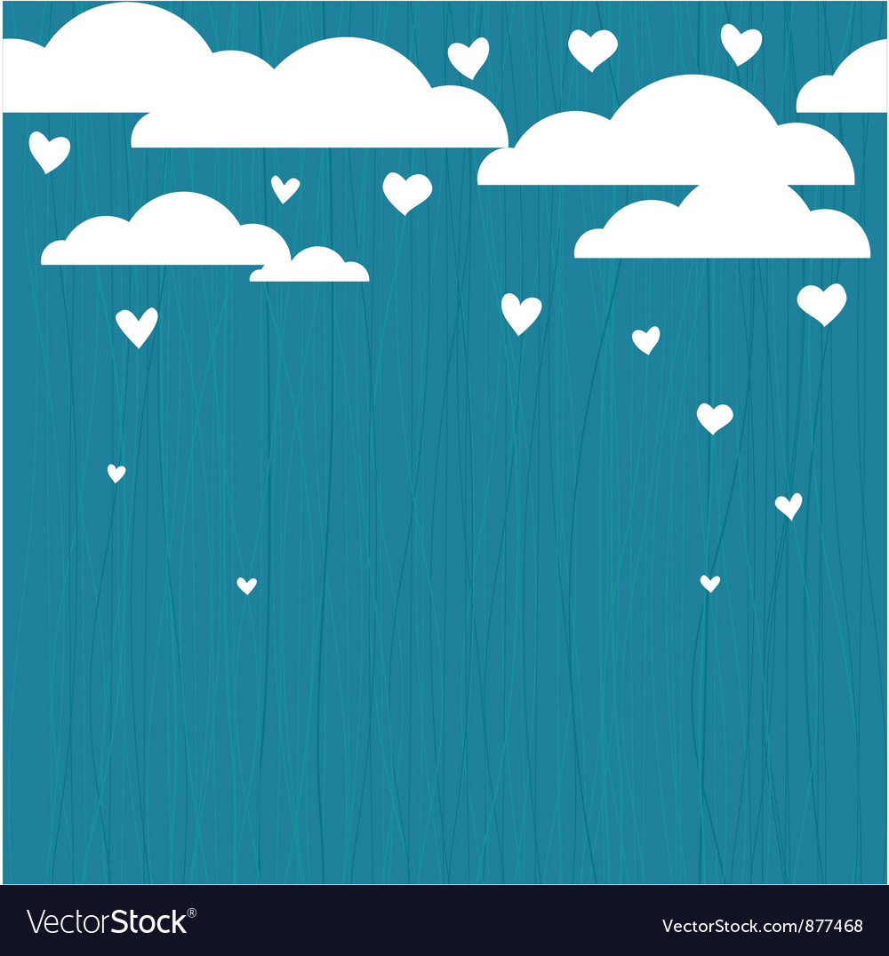 Raining hearts vector