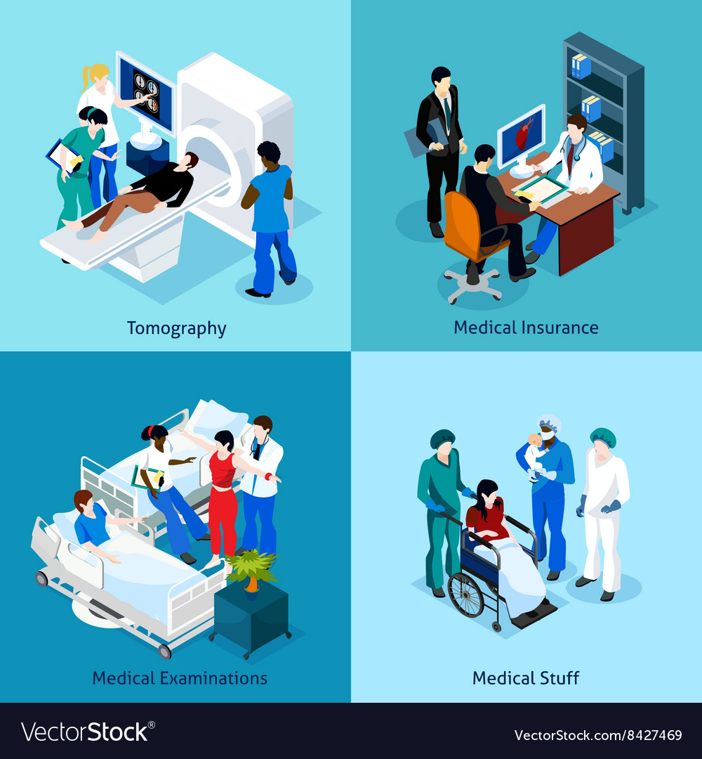 Relationship between doctor and patient icon set vector
