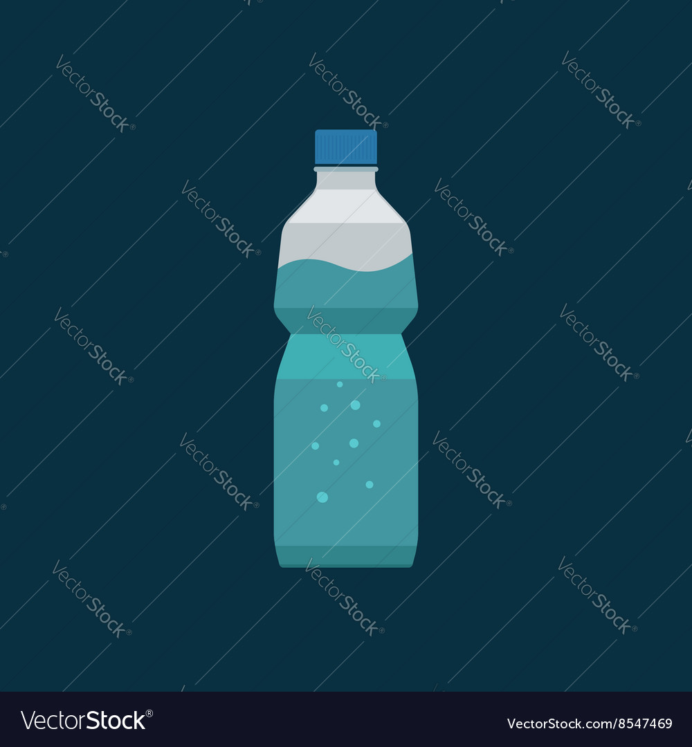 Water bottle plastic isolated on dark vector