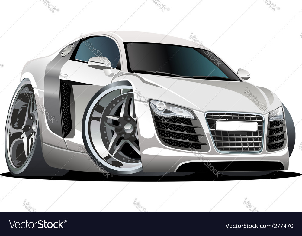 Modern cartoon car vector