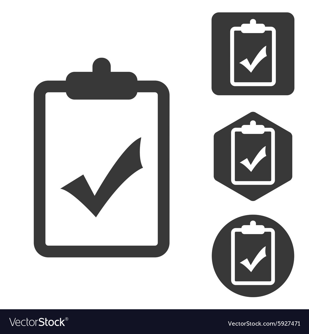 Positive result icon set monochrome vector