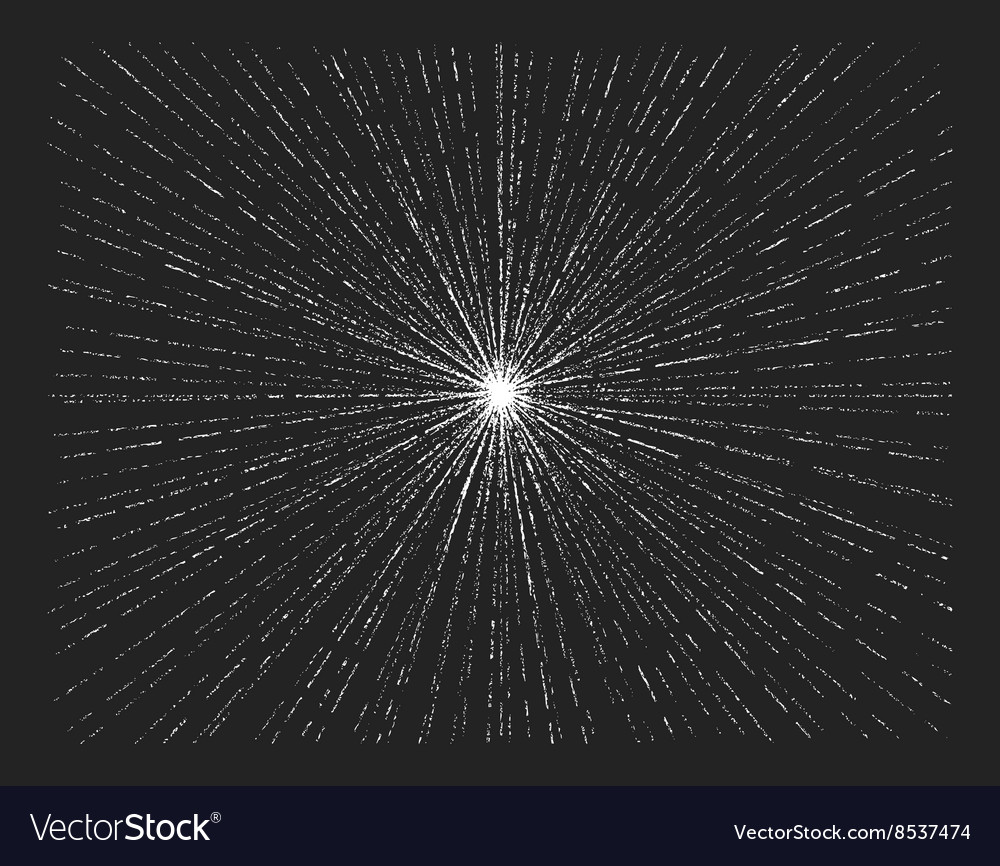 Starburst on blackboard vector
