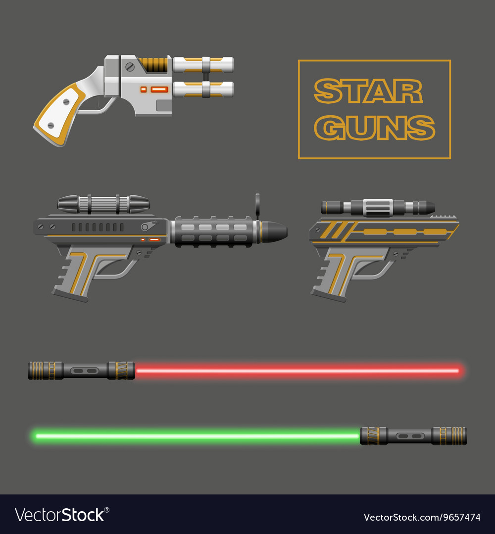 Video game weapons vector