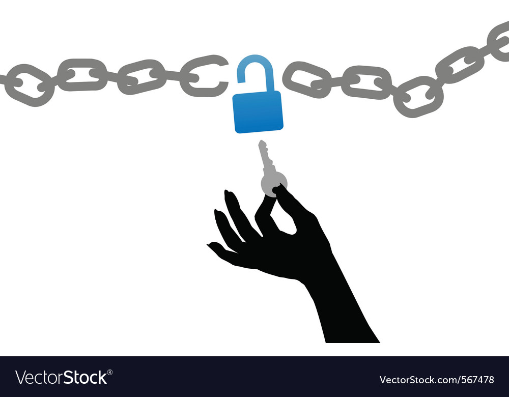Unlock chain vector