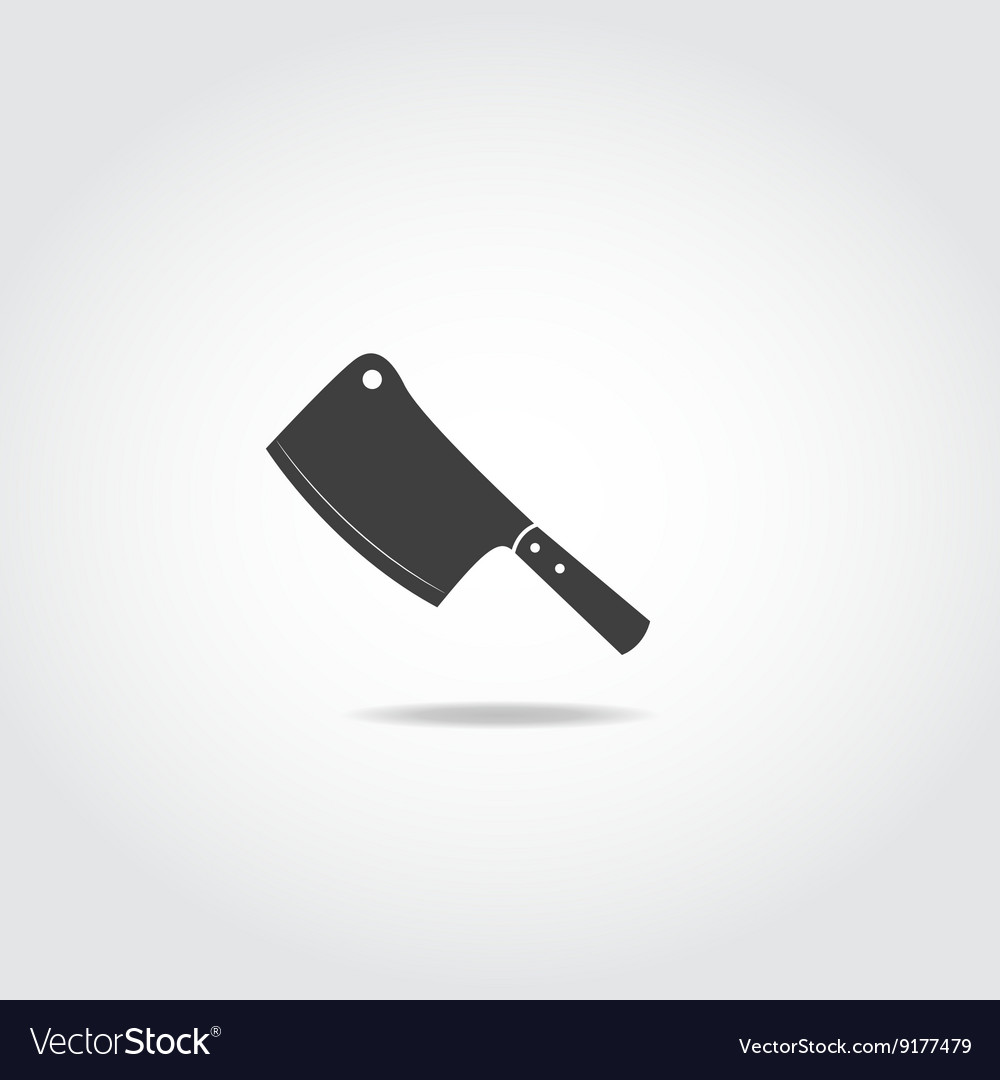 Butcher knife vector