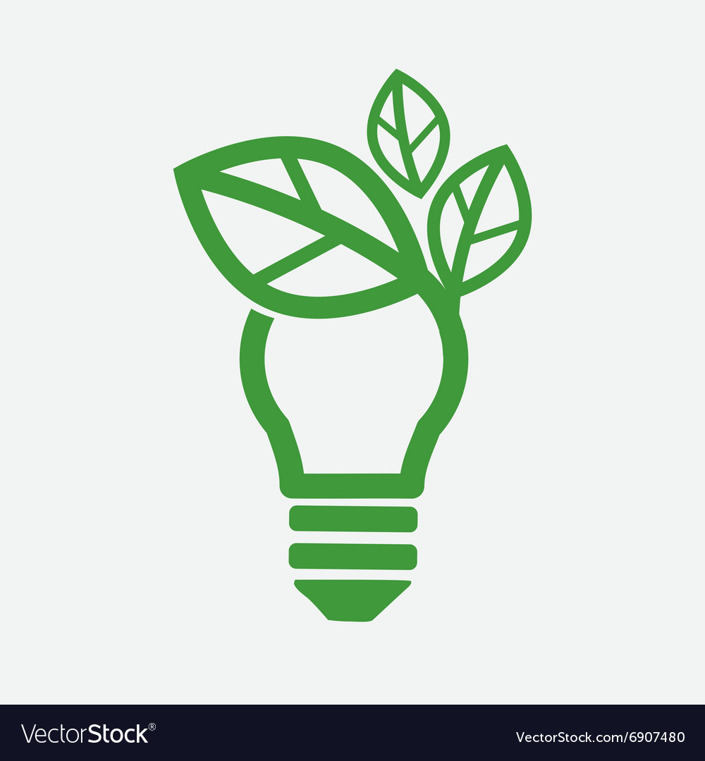Green concept light bulb vector