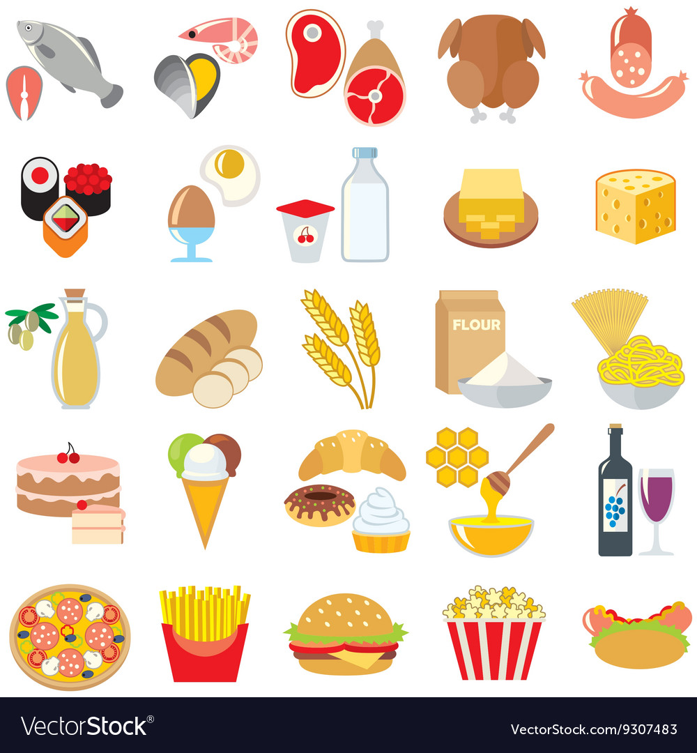 Food color vector