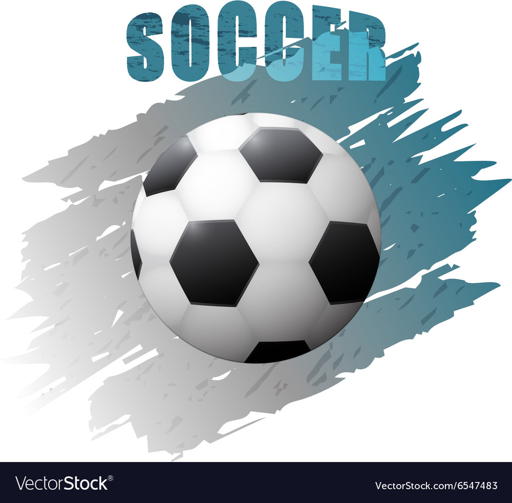 Grunge design with soccer ball vector