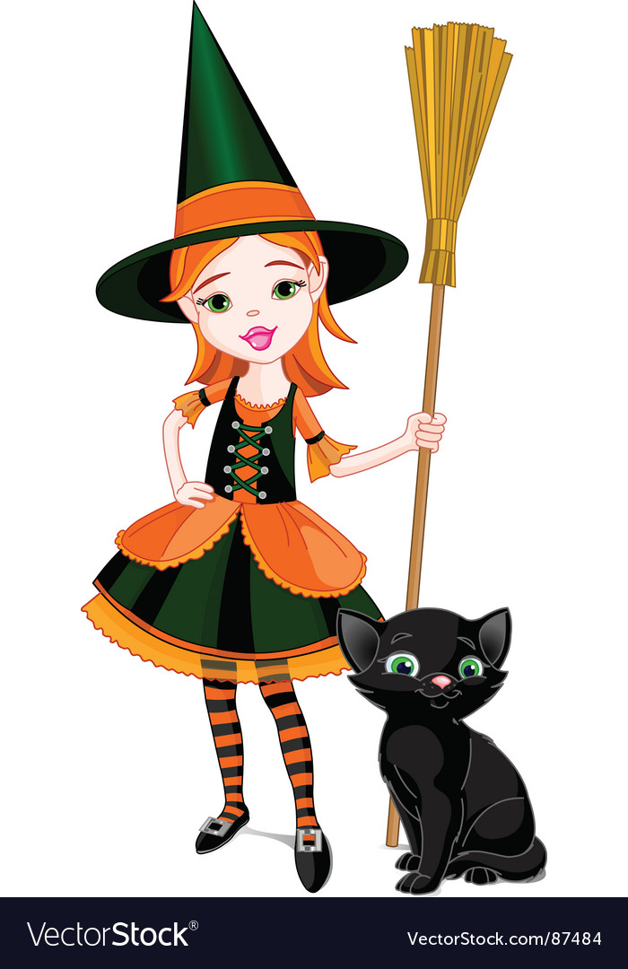 Cartoon halloween witch vector