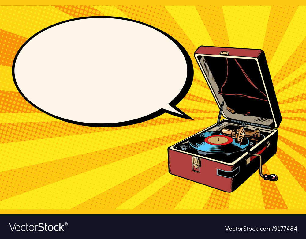 Phonograph vinyl record player vector