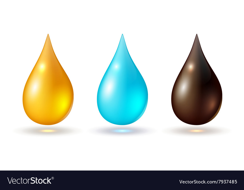 Set of multicolored drops vector