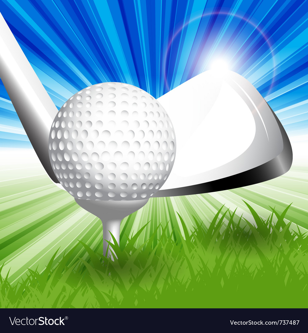 Gold club teeoff vector