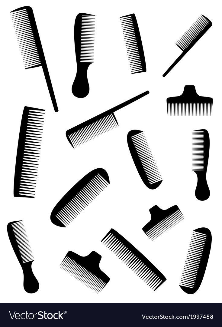 Background with many black comb vector