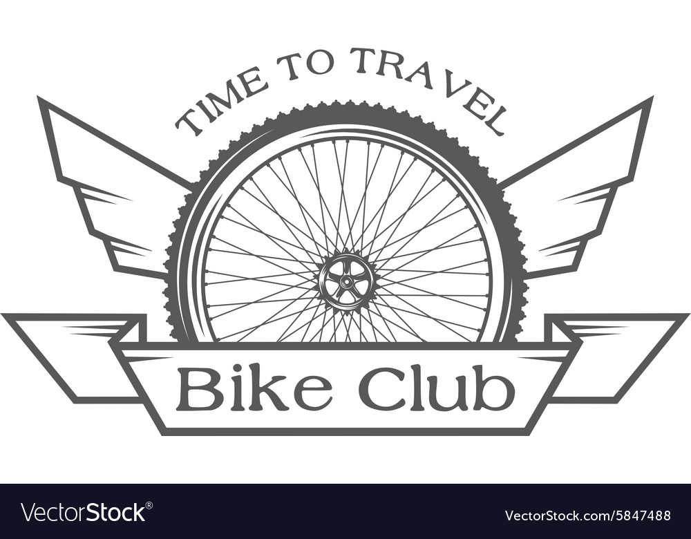 Emblem on the theme of cycling club vector